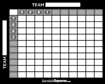 Basketball Squares Pool Scratch Off