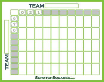 Super Bowl 50 Square Pool Scratch-Off Cards