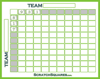 Scratch-Off Baseball Squares